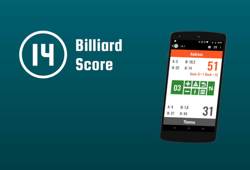 We make the app better day by day to become your No1 billiard scoring app.